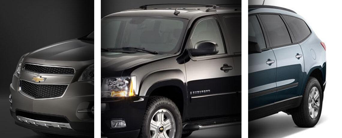 Chevrolet Equinox, Suburban, Traverse