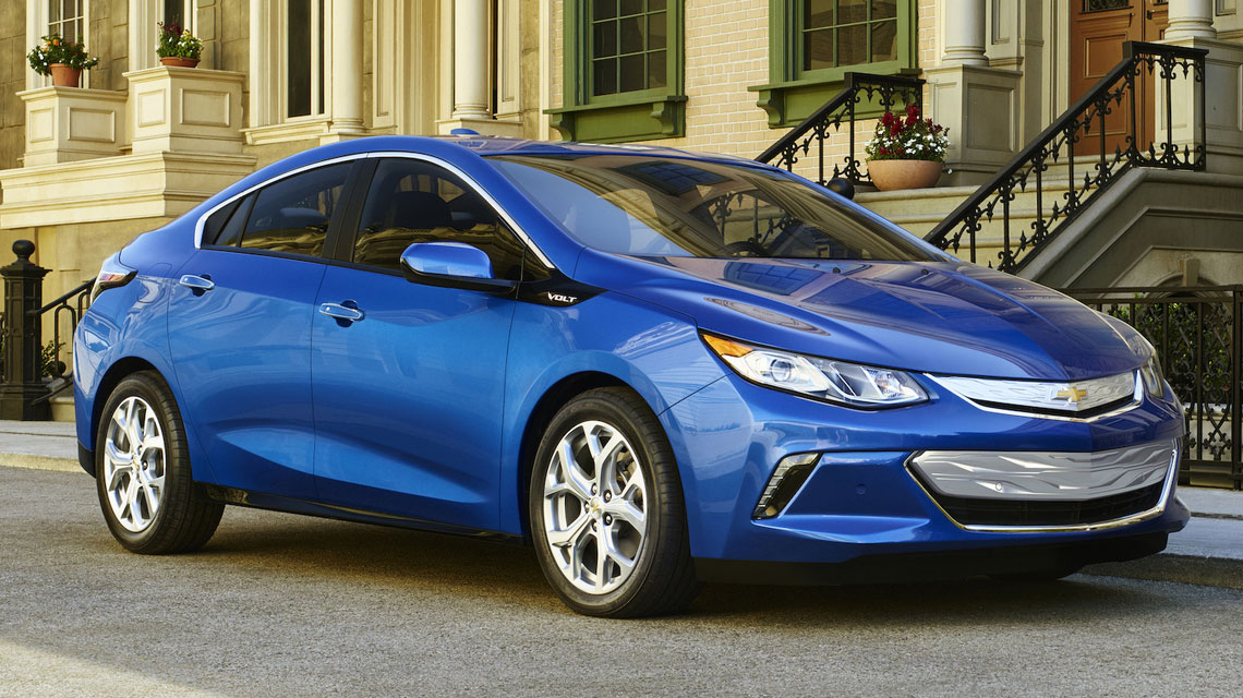 Blue Chevy Volt