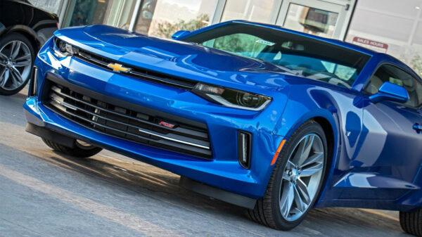 Blue Chevy Camaro