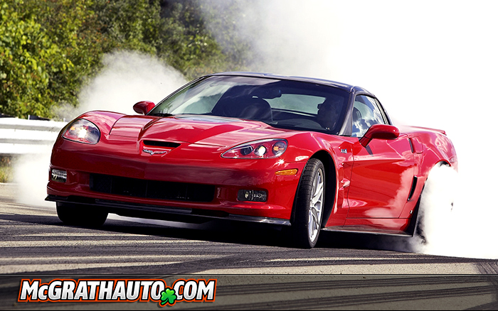 Chevy Corvette ZR1 Red Burnout in Cedar Rapids