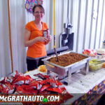 Angie King Serving the Dodge Country Potluck