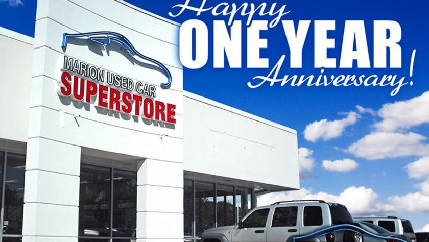 Marion Used Car Superstore Celebrates One Year