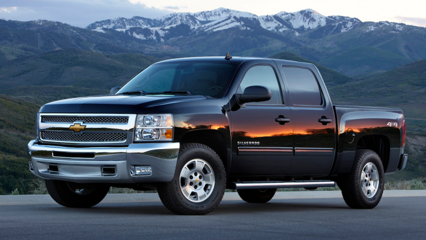 2013 Chevy Silverado Park in the Mountains