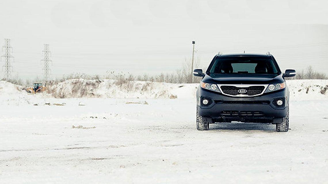 Kia Sorento In The Snow