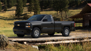 Chevy Silverado Parked in the woods