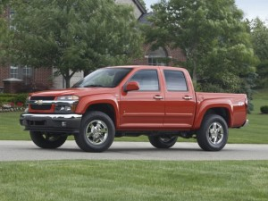 Red Chevy Colorado Truck Parked