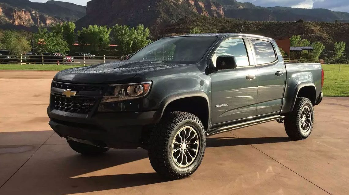 Chevy Colorado parked in the mountains