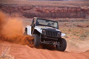 Jeep Wrangler Stitch in the desert