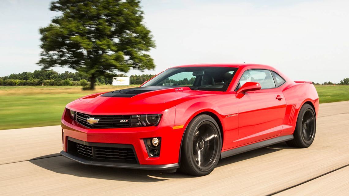 2013 Red Chevy Camaro zl1