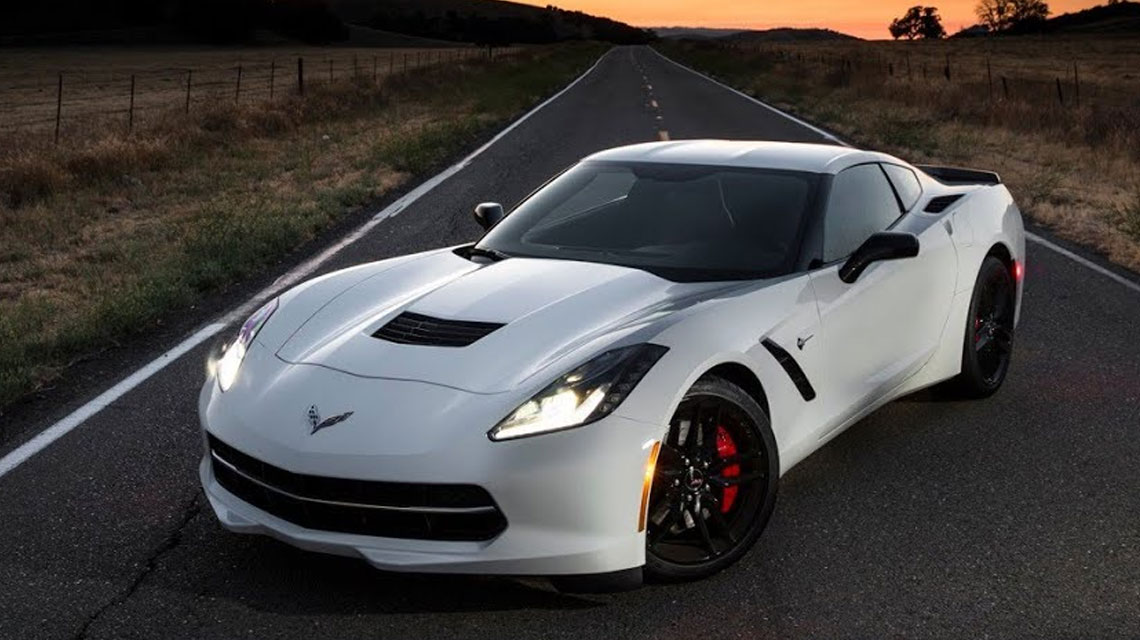 2014 white Corvette Stingray