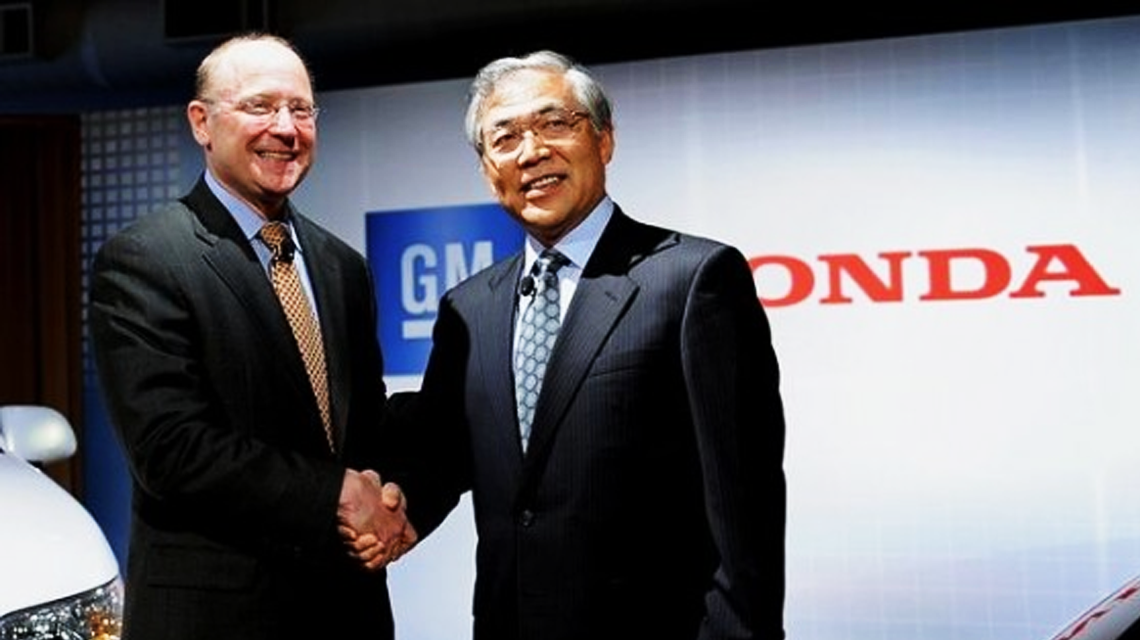 General Motors Joins Forces with US Military Handshake