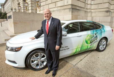 GM CEO Dan Akerson with Bi-Fuel 2015 Chevy Impala