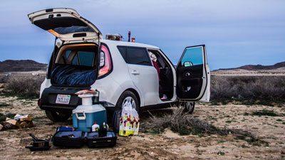 2014 Kia Soul Camping