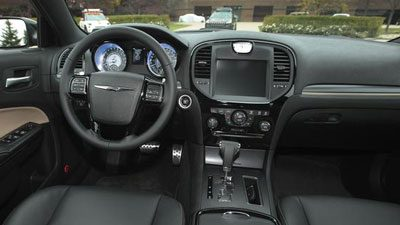 The customized interior for the Mopar Chrysler 300