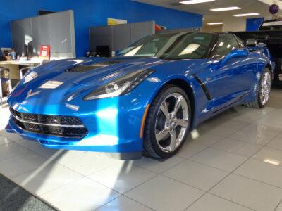 2014 Corvette Stingray in showroom