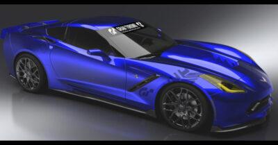Blue Corvette Stingray Gran Turismo Concept