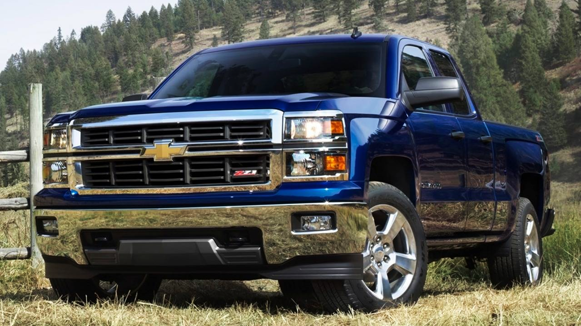 2014 Blue Chevy Silverado
