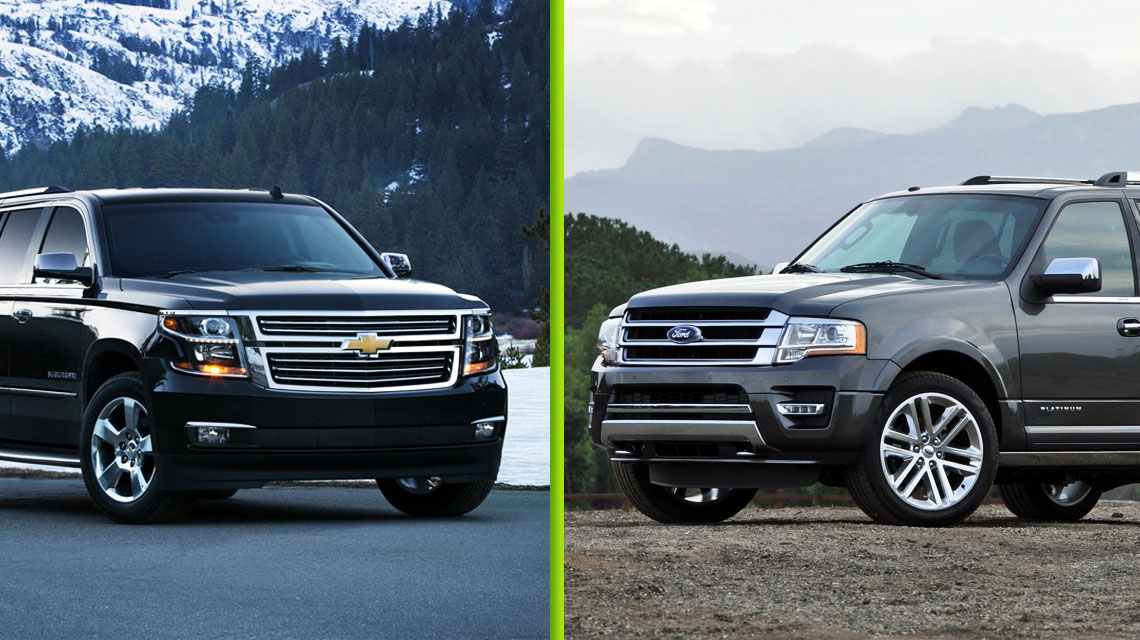 2015 Chevy Suburban vs Ford Expedition