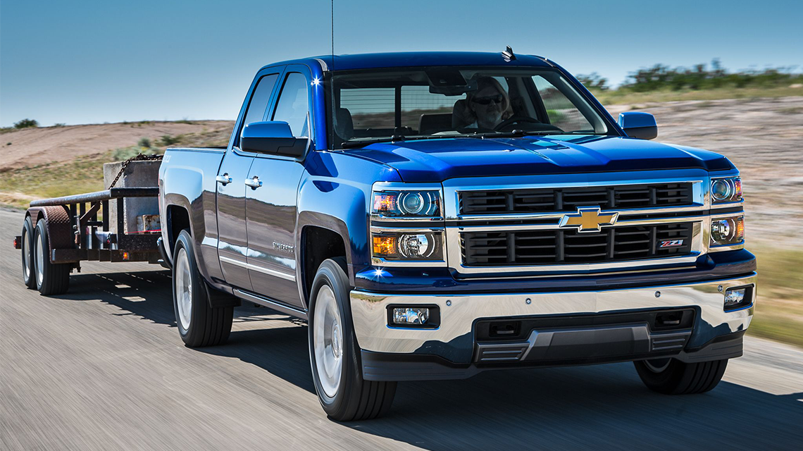 2014 Chevy Silverado Towing Trailer