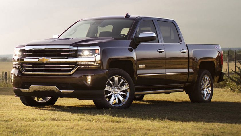 Chevy Silverado Parked in a field