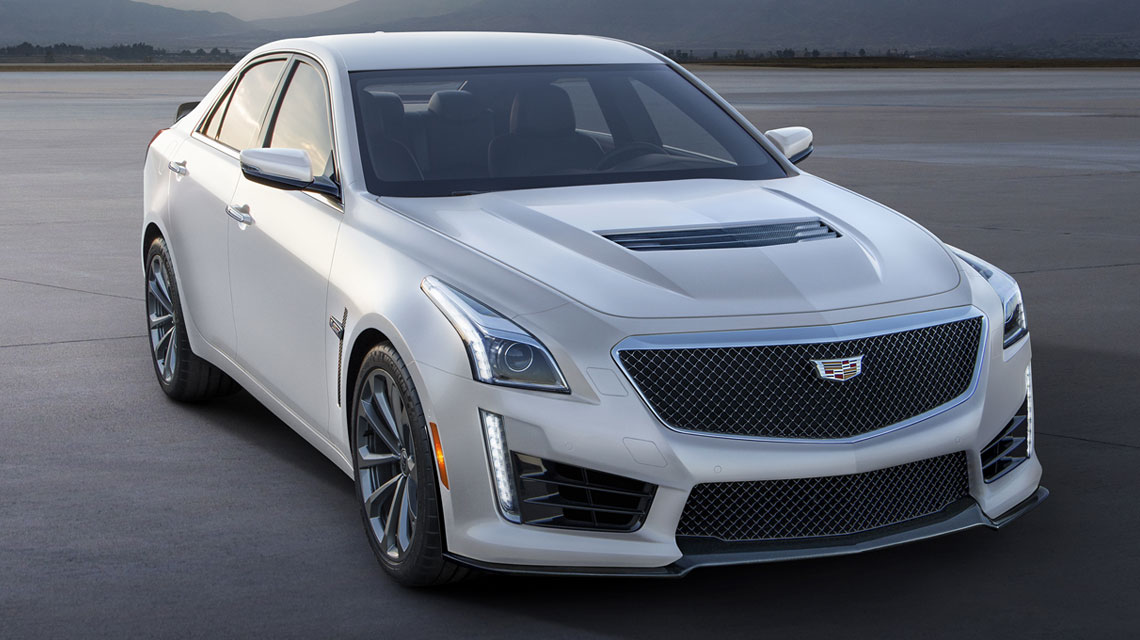 2016 Cadillac v-series white frost edition
