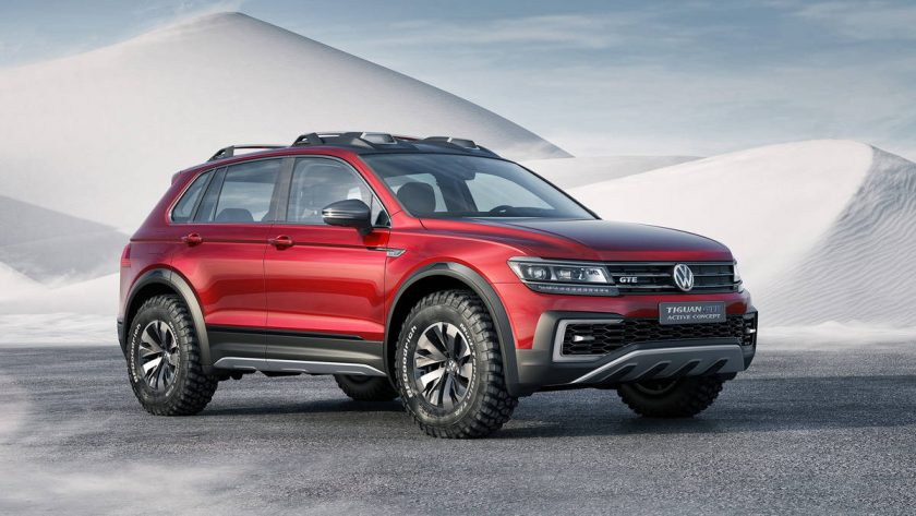 The Sporty, Off-Roading 2017 Volkswagen Tiguan GTE Active Concept Car