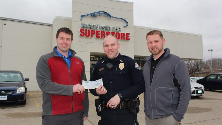 Marion Used Car Superstore supports Marion Police Department's 5K4K9!