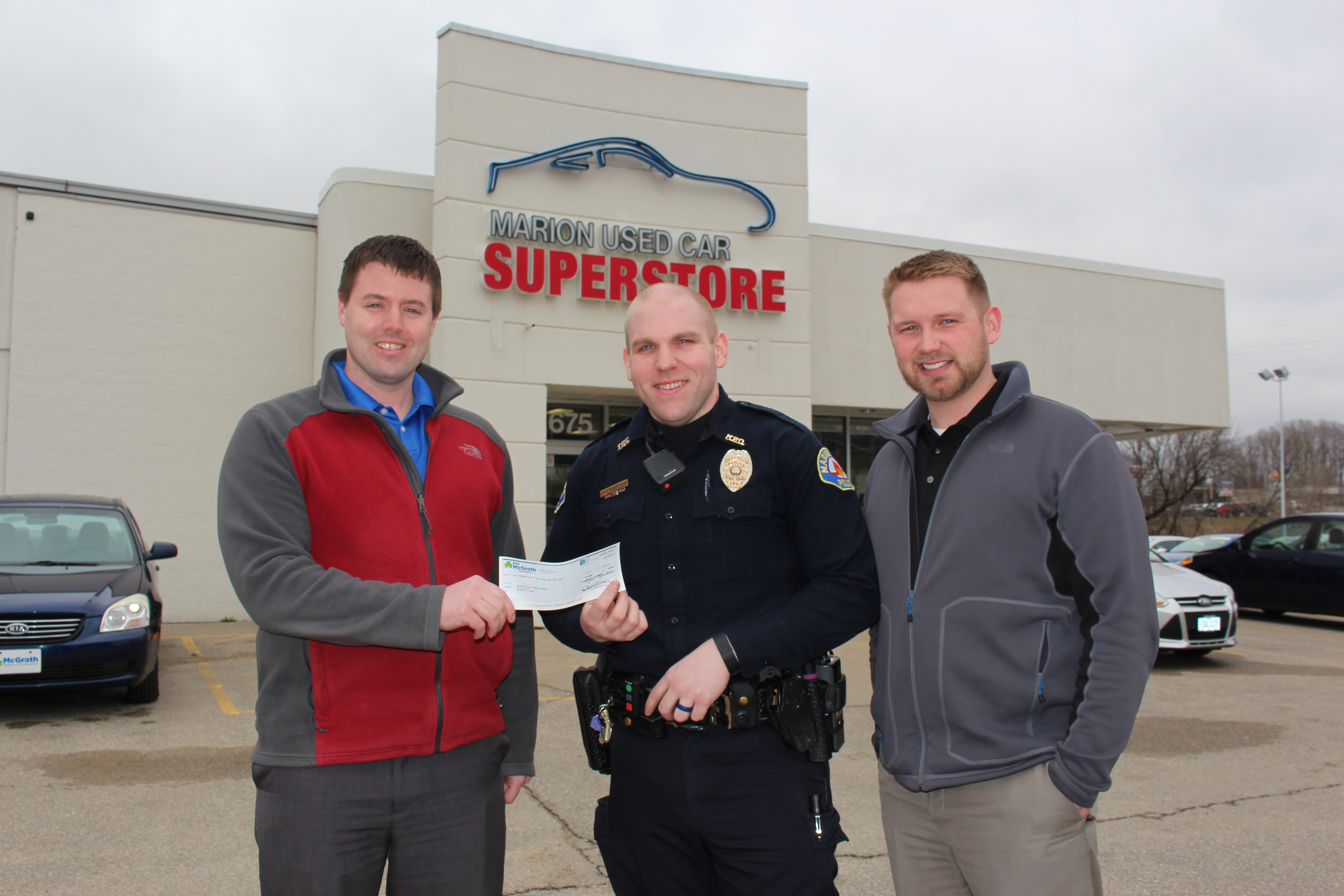 Marion Used Car Superstore supports Marion Police ...