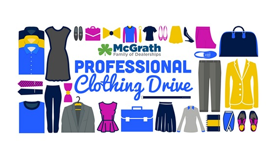 McGrath Professional Clothing drive
