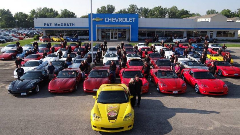 Cedar Rapids Corvette Club Meets at Pat McGrath Chevyland!