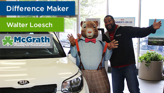 Walter Loesch Earns Difference Maker Award for Outstanding Customer Service