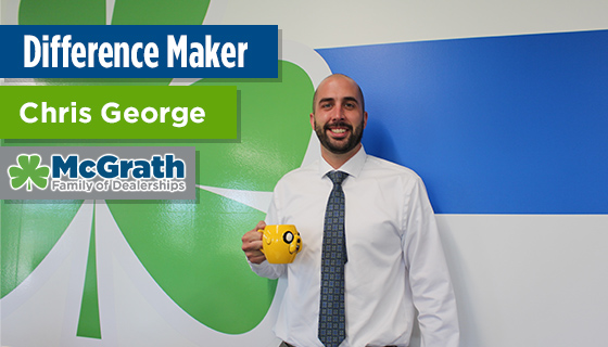 Chris George Earns Difference Maker Award for Amazing Customer Service
