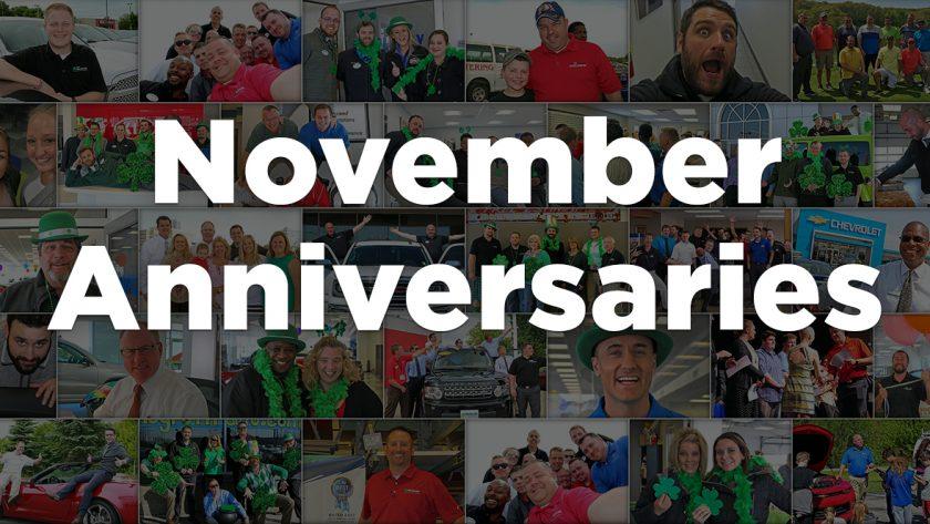 November Anniversaries
