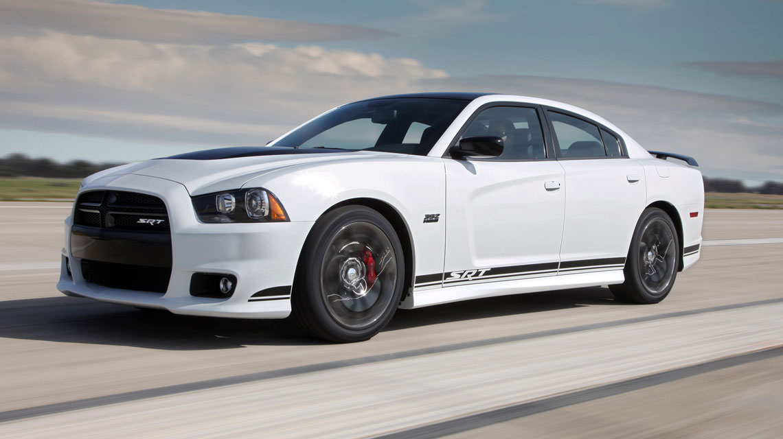 Dodge Charger on a race track