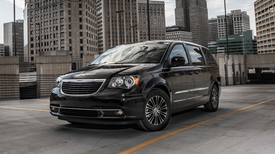 Chrysler Town and Country in the city