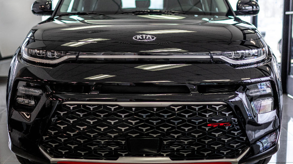 Newly redesigned front grille on the 2020 Kia Soul