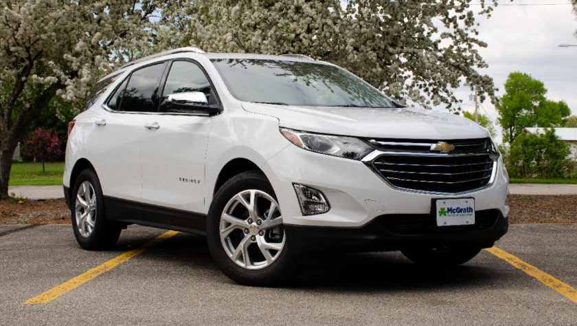 2019 Chevy Equinox in a park
