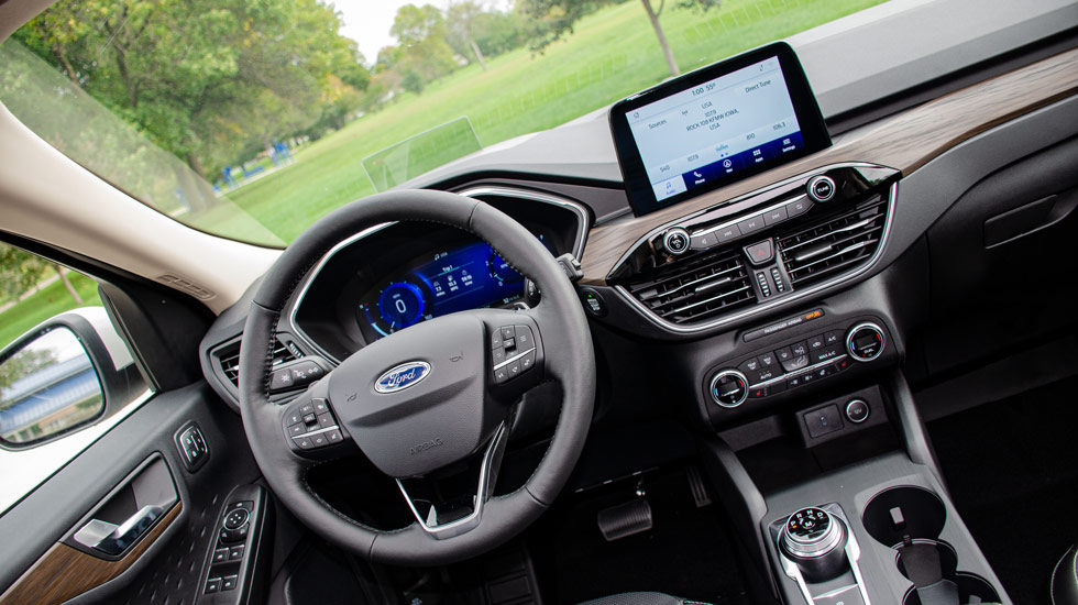 inside the 2020 Ford Escape