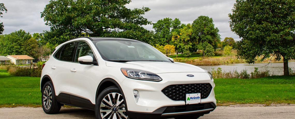 2020 White Ford Escape Titanium