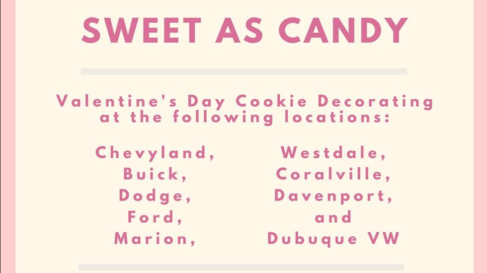 Valentine's Day cookie decorating McGrath Locations