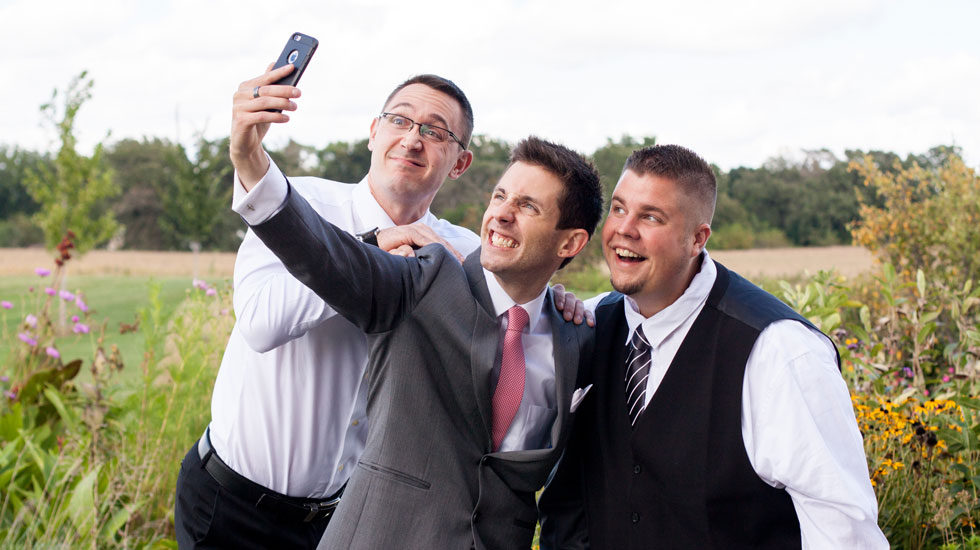 Brad and Friends taking a selfie