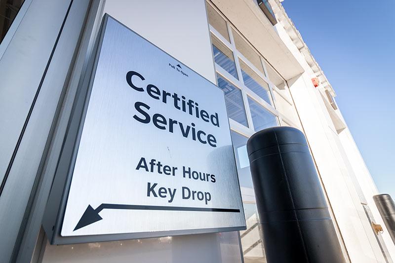 Service key drop off at McGrath