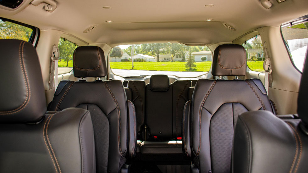 Seating in the Chrysler Pacifica