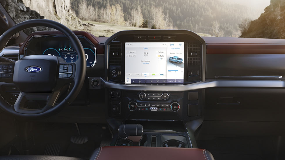 12-inch touchscreen in F-150