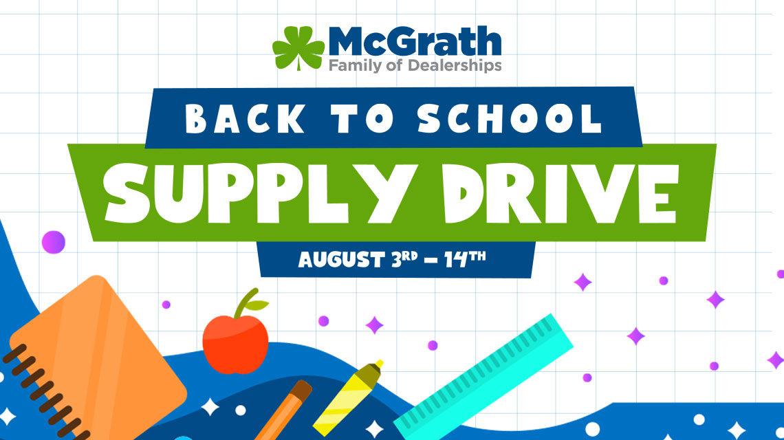 McGrath Back to School Supply Drive