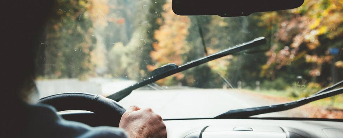rainy car drive