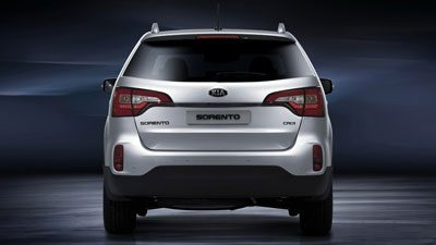 Tailgate design of the Kia Sorento