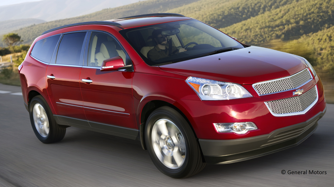 2012 Chevy Traverse Driving