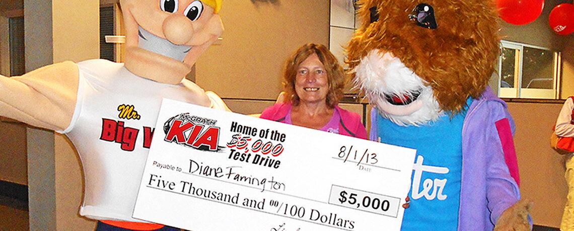 McGrath Kia Test Drive Giveaway Winner