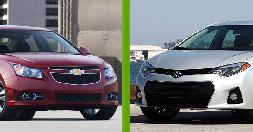 Car Comparison: 2014 Toyota Corolla vs 2014 Chevy Cruze